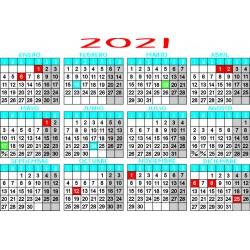 Calendario tamaño a3...