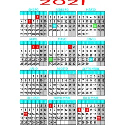 Calendario tamaño a4...