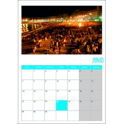 Calendario 1 foto cartulina...