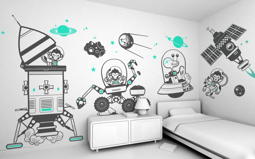 wall-decals-with-aerospace-theme-for-boys-bedroom